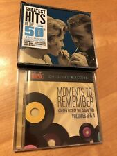 MOMENTS TO REMEMBER Golden Hits Of The 50s & 60s Volumes 3 & 4 CD SET NEW +BONUS