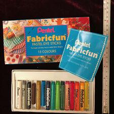 Pentel Fabric Fun Pastel Dye Sticks 15 colours