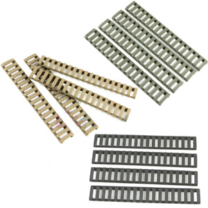 4pcs Weaver Picatinny Rail Cover Plastic Ladder Shape Heat Resistant Rifle Hand