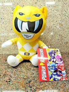 NEW Yellow Power Rangers Plush Toy Doll Figure Saban's Hasbro Sabertooth Tiger