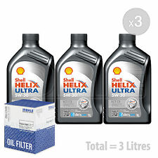 Engine Oil and Filter Service Kit 3 LITRES Shell Helix Ultra ECT C3 3L
