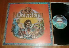 "NAZARETH Orig 1974 ""Rampant"" LP w UNPEELED STICKER Mooncrest UK VG++"