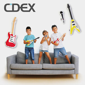 "DOIY Kinderkissen ""Pillow Band"" 3er Set Kisseninstrument Sofa Kissen Gitarre"
