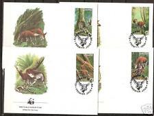 Zaire # 1168-1171 Fdc World Wildlife Fund