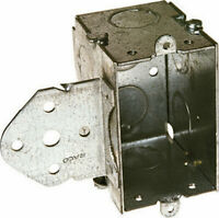 Raco  3-3/8 in. Rectangle  Steel  1 gang Switch Box  Gray