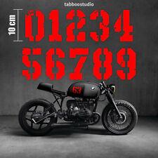 Pegatinas moto cafe racer numeros adhesivos casco bmw yamaha honda vinilo rojo