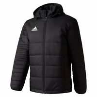 Adidas Performance Mens Tiro 17 Winter Jacket Black Quilted Hood Sports Football