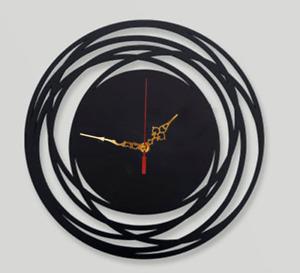 Wall Clock Modern Australian Made Wooden Concentric Circle Art Round Design