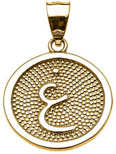 "14k Yellow Gold Arabic Letter "" ayn "" G Initial Charm Pendant"