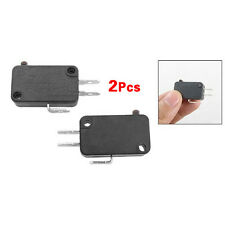 New 2 Pcs Black Plastic Electric 1NO 1NC Contacts Push Button Micro Switch DI