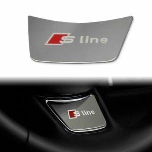 NEW FOR AUDI Sline Steering Wheel Aluminum Style S Line Sticker Badge Decals
