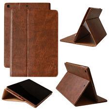 Cubierta de piel para Apple iPad Air 2 Tablet funda bolsa Smartcase marrón