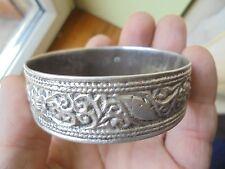 bracelet  ARGENT MASSIF.poincon belier. maroc? maghreb.berbere 46 gr.