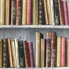 Carta da parati Multi da Scaffale incollare il muro libreria su pannello di legno grigio FC3401