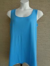 NEW Just My Size Breezy Light Weight High Low  Tank Top 5X Blue