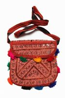 Womens Embroidered Handbag Handmade Crossbody Tassels Bag Boho Hippie Purse