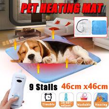 9 Temp Waterproof Pet Electric Pad Blanket Heated Heating Mat Dog Cat Bunny