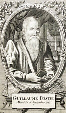 c1720 Postel Guillaume Humanist Kupferstich-Porträt