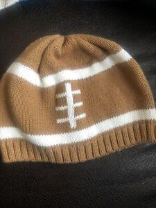 Gymboree 6-12M Football print Hat knit cap beanie NFL fan sports baby boy girlf3