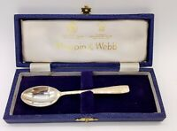 Vintage Mappin and Webb Mappin plate spoon in present. box.