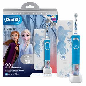 Oral B Spazzolino Elettrico Vitality Frozen 2 Ricaricabile per Bambini 3 Anni