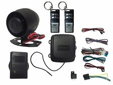 4 Channel HornBlasters Car Alarm System With Shock Sensor/Flip Remote