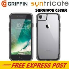 Griffin Survivor Clear Rugged Slim Case for iPhone 8 Plus/7 Plus/6S Plus Smoke