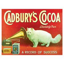 More details for vintage cadburys cocoa retro metal sign chocolate advertising plaque garage fun