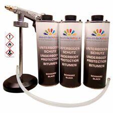 Elastischer Unterbodenschutz Bitumen schwarz Antidröhn mit UBS Pistole 3x1L AiL