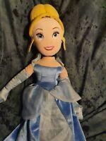 "Disney Store Official Princess Cinderella 21"" plush doll soft toy vgc"