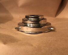 LAMP SHADE GALLERY x 1 : CHROMIUM : TRIPLE STEPPED [Art Deco] DESIGN
