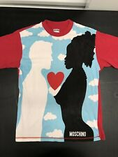 MOSCHINO rare Graphic Shirt All Over Print Size Small Made In Italy Lovers