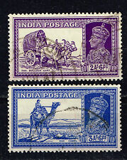 India British Colonial Transportation scenes Camel and Cows stamps 1940