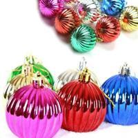12P×Christmas Balls Party Baubles Xmas Tree Decorations Hanging Ornaments X B8C8