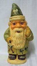 St. Patrick's Elf Santa Rich Connolly Antique Chocolate Mold Folk Art Chalkware