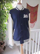 UCLA Mens Varsity Jacket -Antique White / Navy Blue Size L New