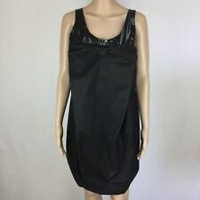 Marlene Birger's Darling Deirdree Black Pockets Bubble Dress Size 36 / 10 (BV12)
