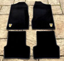 "ROVER P6 2000 - 2200 - 3500 NEW 4 PART BLACK OVERMAT SET WITH ROVER ""LOGOS"""