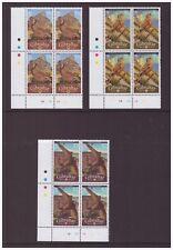 Gibraltar MNH 2010 Birds Fauna mint 3 blocks cylinder stamps