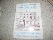 1976.Catalogue exposition François Garnier.99 objets instables..