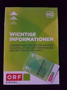 ORF Karte HD SAT Digital 5 Jahre GARANTIE / AKTIV bis 12/2026 Formel 1 MotoGP CL