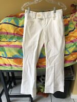 Banana Republic Women's Martin Fit 323 Stretch Size 0P White Trouser