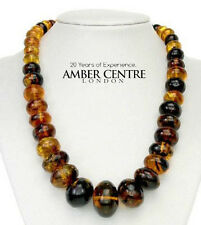 Mexican Amber Bead Necklace Made from one Amber piece- A0180 - RRP£3495!!!