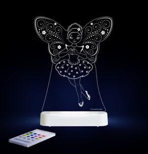 Sleepy Lights Fairy Ballerina Multi-Coloured LED Night Light With Remote Control