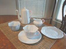 Vintage Shelley Tea Set, Vgc, No Chips/Cracks, Blue/Pink, England