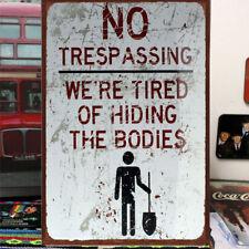 30x20 Wall Decor NO Trespassing Tin Sign Bar Pub Cafe Home Metal Art Poster AM5C