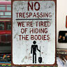 NO Trespassing Tin Sign Bar Pub Cute Cafe Home Wall Decor Metal Art Poster