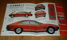 ★★ 1974 Iso Lele Originale Imp Brochure Specifiche Info 74 V8 351 69 70 71 72