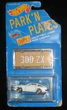 Hot Wheels Park 'N Plates Nissan 300 ZX White New On Card 1988