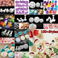 DIY Cookies Plunger Cutter Fondant Cake Decorating Biscuit Sugarcraft Mold Tool
